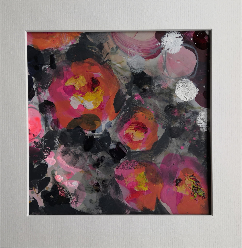 Abstract Floral 'Night Rose'