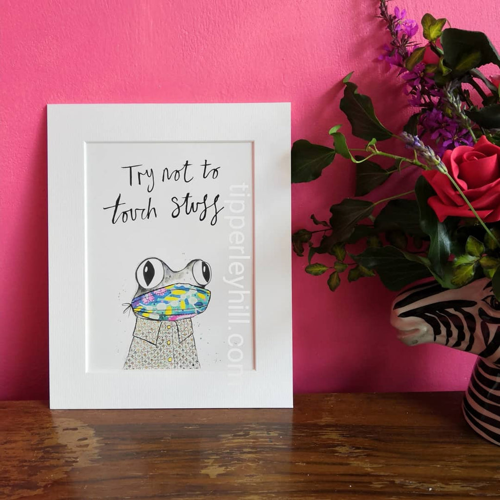 Animal Art, 'Try not to touch stuff'