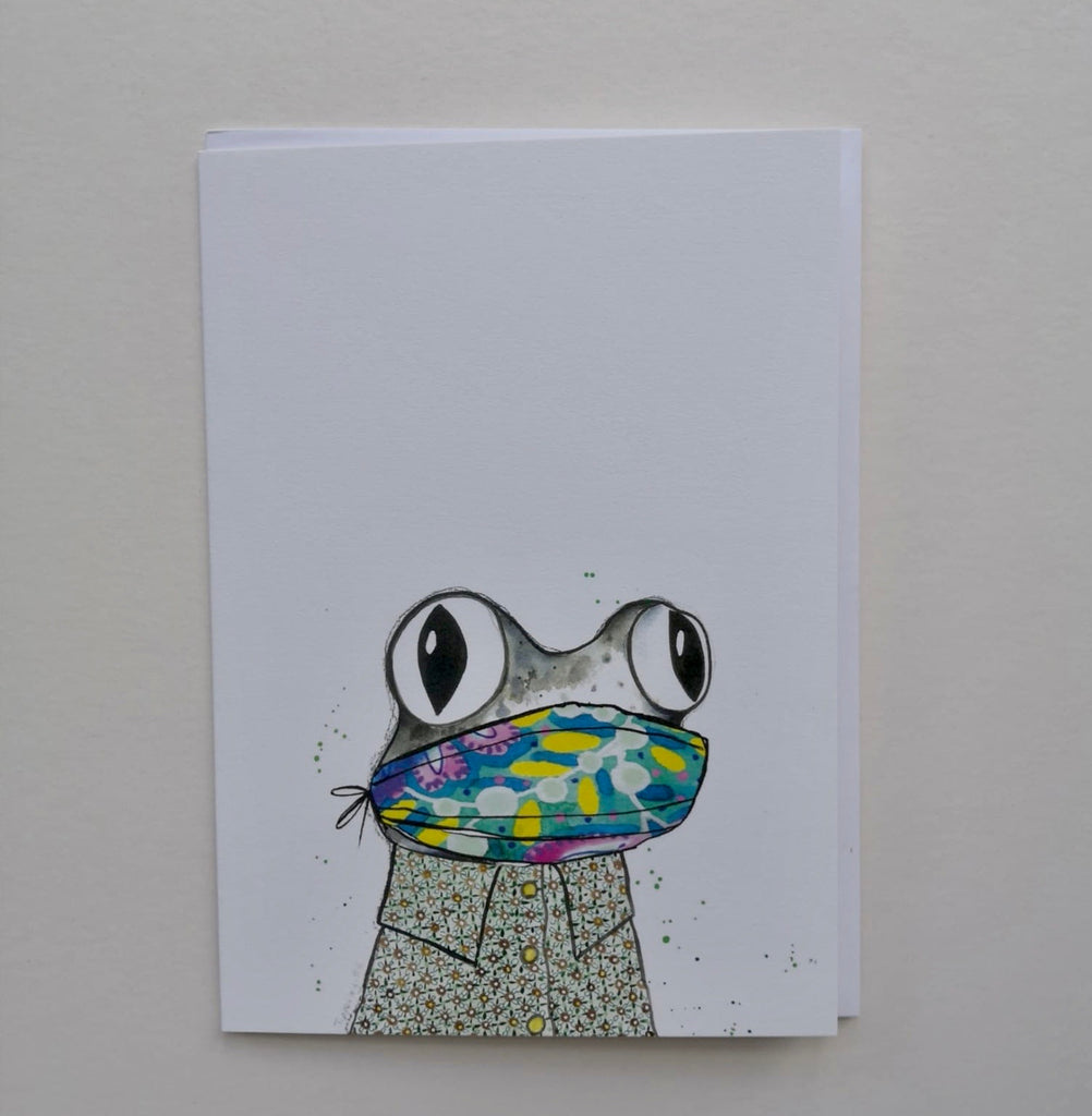 Card, AS38FROG, Masked frog