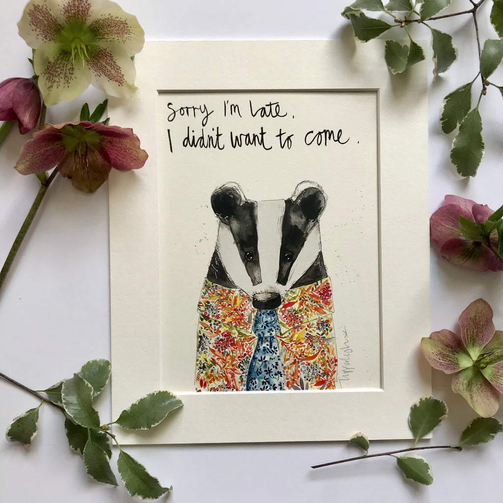 Animal Art, Bertie Badger