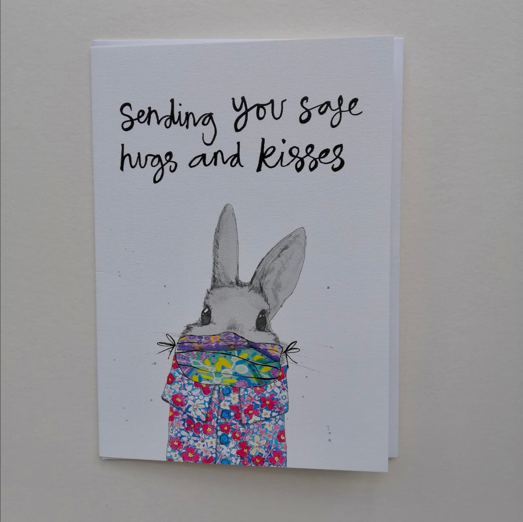Cards, AS35SAFE, 'Sending you safe hugs and kisses'