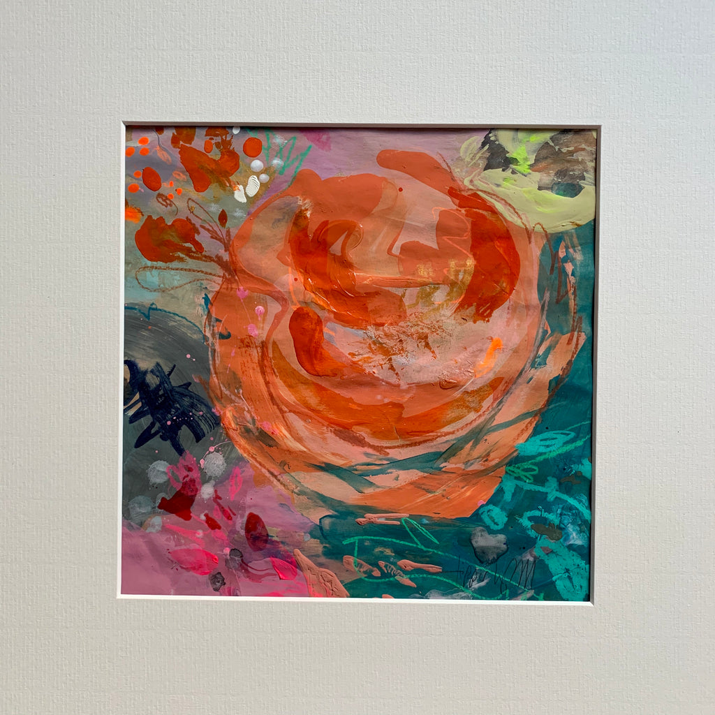 Abstract floral, 'A luxuriant rose'