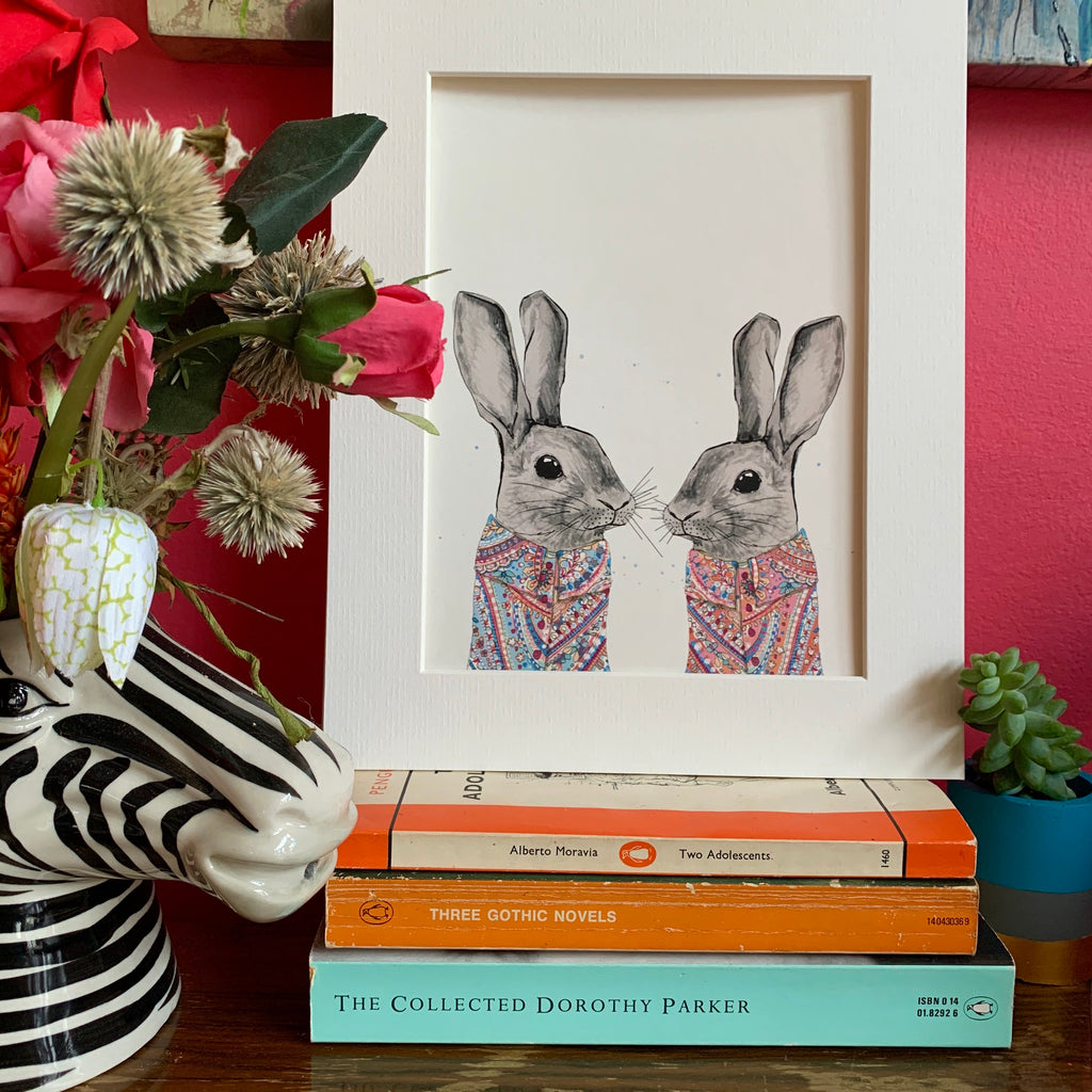 Animal art, bunnies