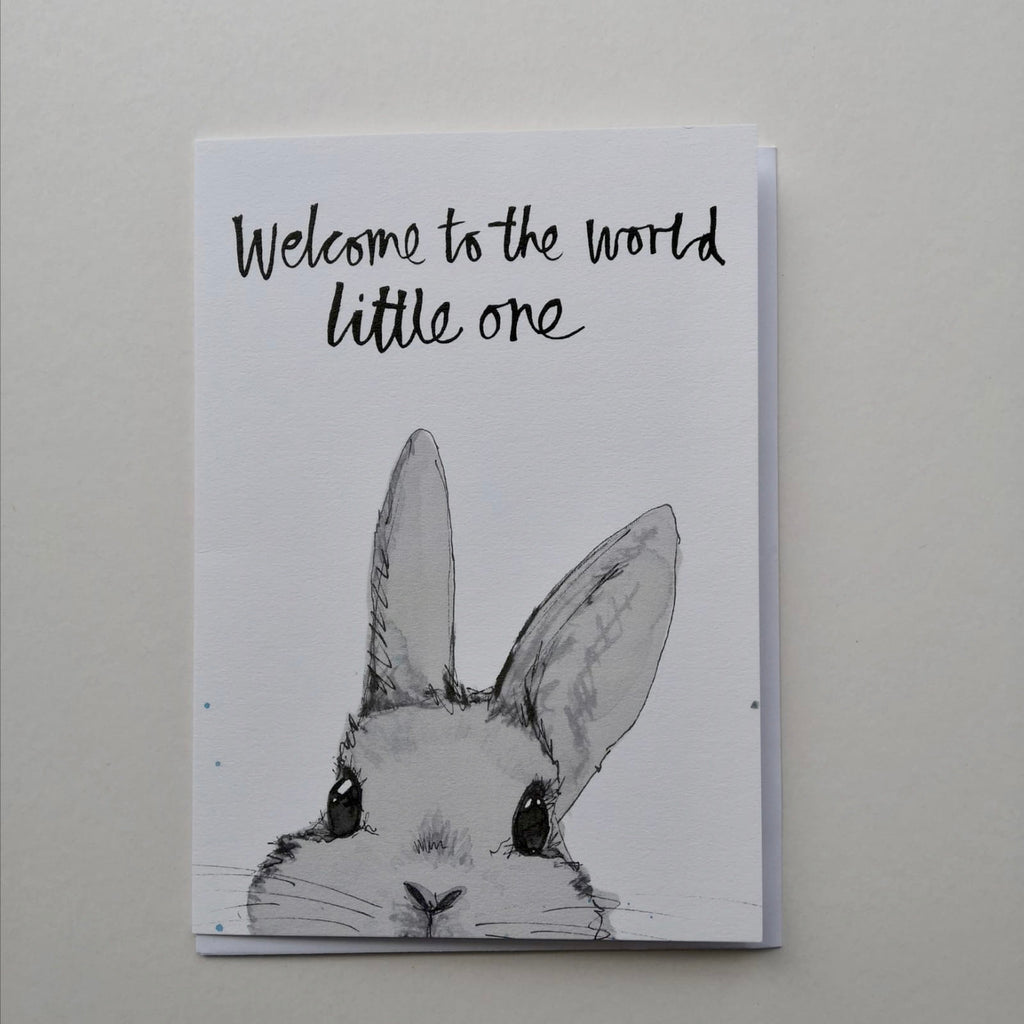 Card, AS18LITTLEONE, New baby, May bunny, 'Welcome to the world little one'
