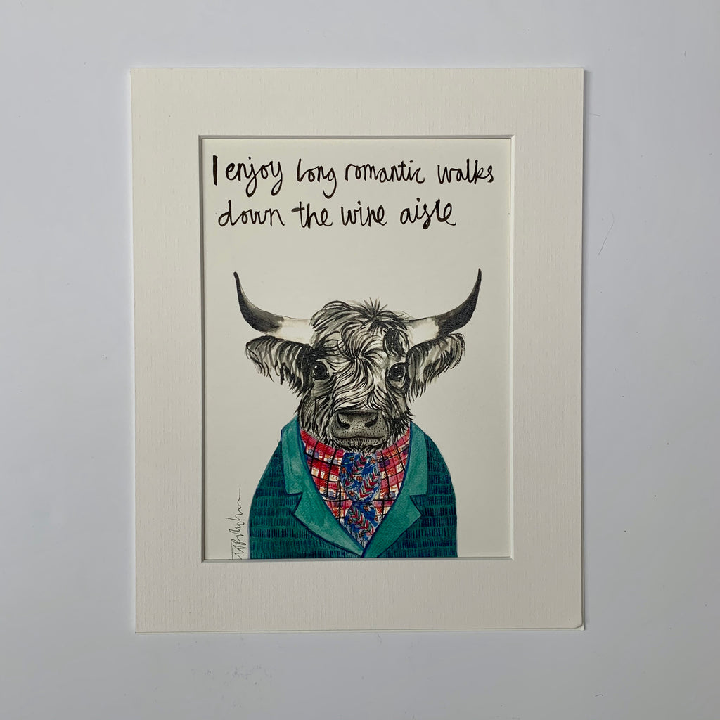 Animal art, Mike the Highland Cow