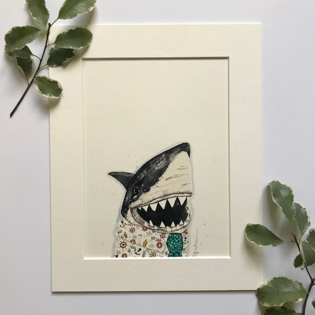 "Animal Art, Tim the Shark, 8"" x 10"""