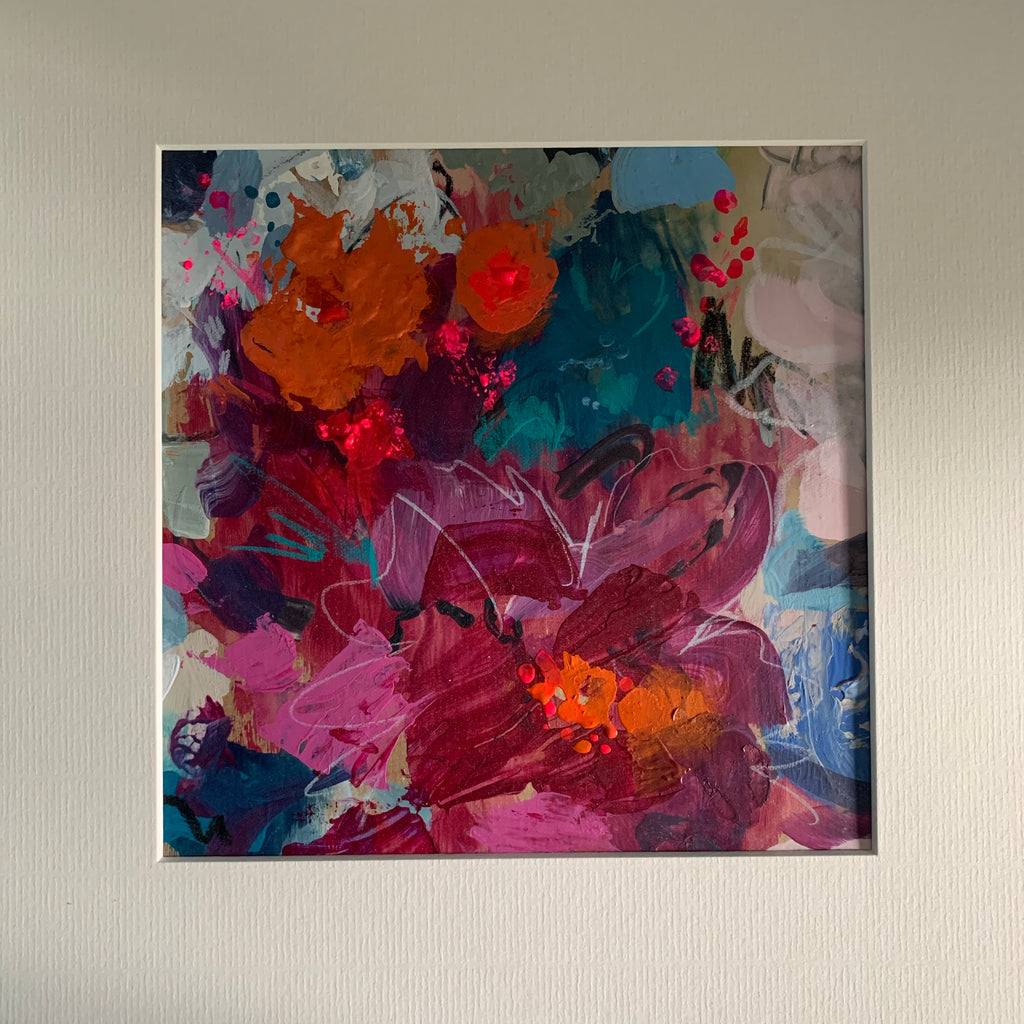 Abstract floral, 'Vibrant blooms'