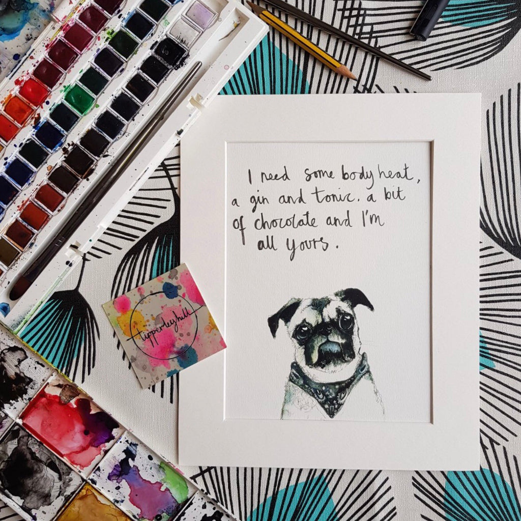 Animal art, Herman the pug