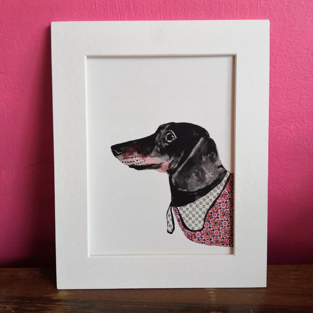 Animal art, Ronnie the dachshund