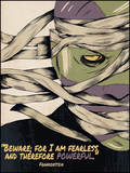"Frankenstein ""Fearless and Therefore Powerful"" Quote Poster"