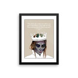 William Shakespeare Hamlet framed print
