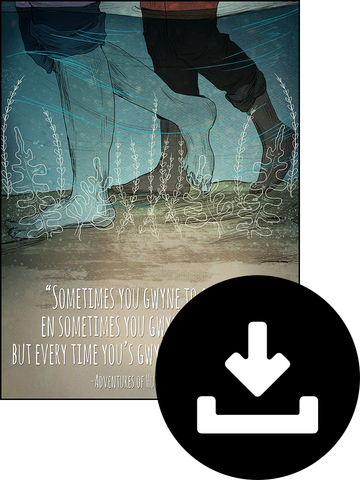 Huckleberry Finn quote poster digital download