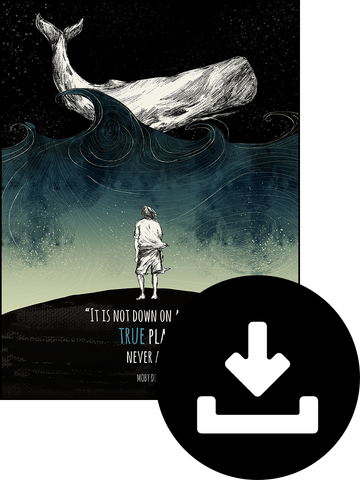 "Digital Download of Moby Dick ""True Places"" Poster"