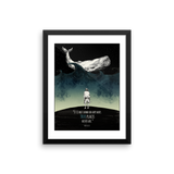 Herman Melville Moby Dick framed print