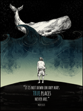 "Moby Dick ""True Places"" Quote Poster"