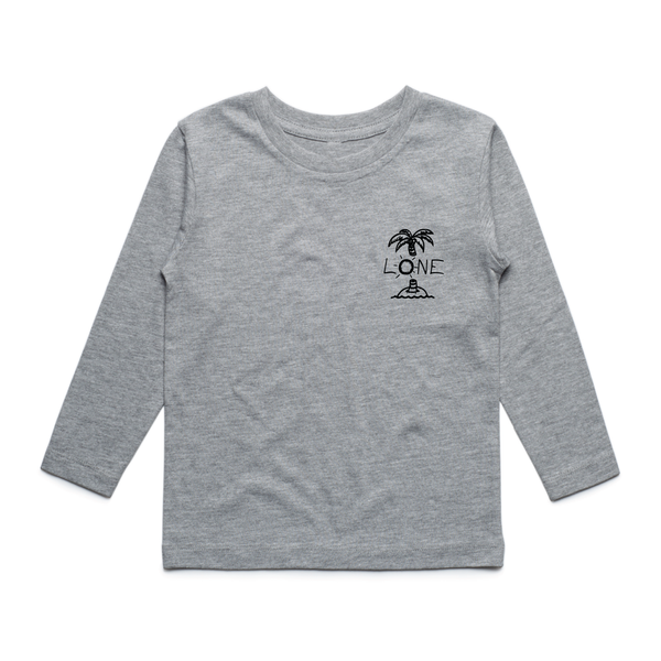 PALM TREE KIDS LONG SLEEVE TEE