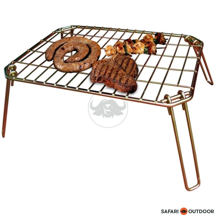 LK COLLAPSIBLE BRAAI GRID 440MM X 330MM M/S - SAFARI OUTDOOR
