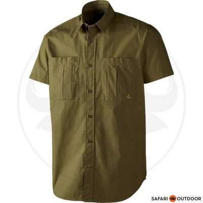 SEELAND SHORT SLEEVE SHIRT TREKKING MEN -GREEN