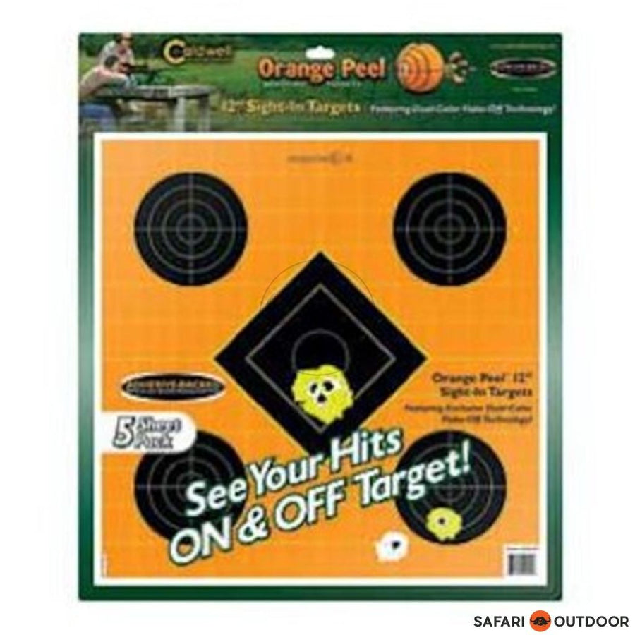 CALDWELL OP SIGHT-IN TARGET 12', 5 SHEETS - SAFARI OUTDOOR