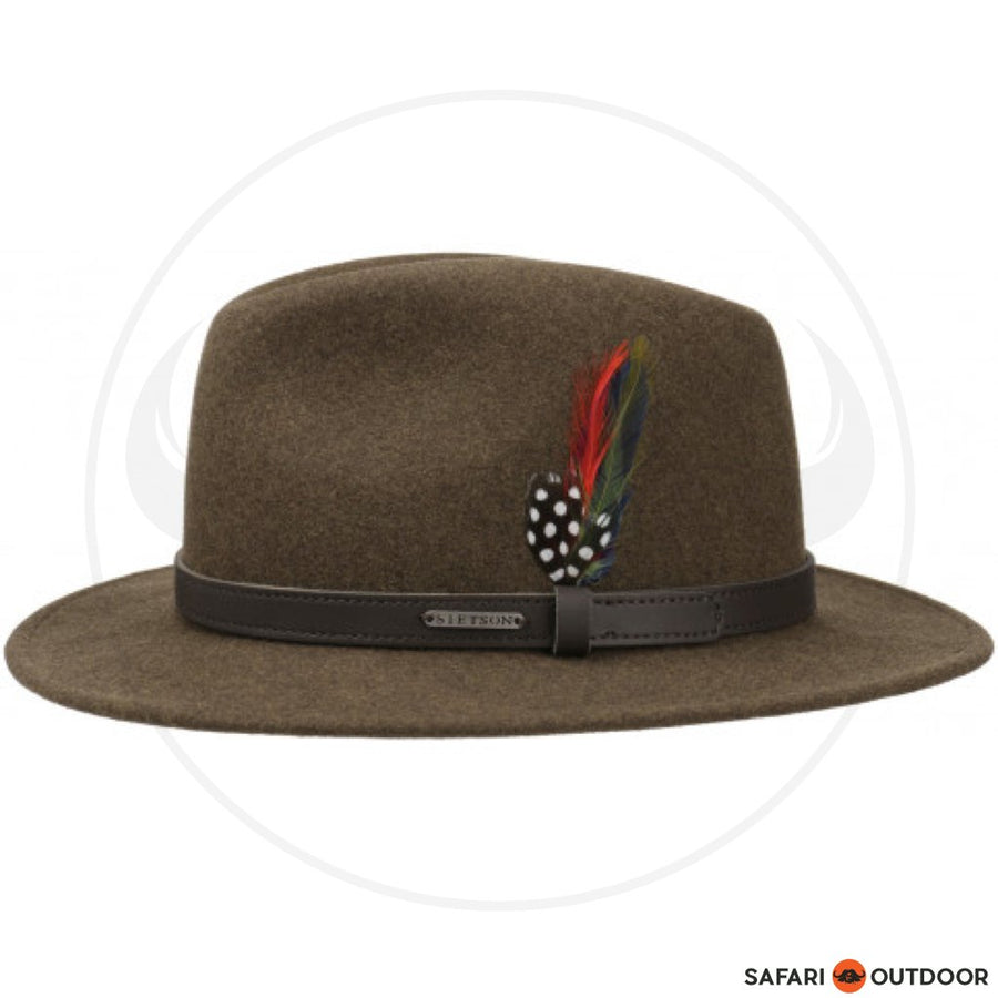 STETSON HAT TRAVELLER WOOLFELT -BROWN