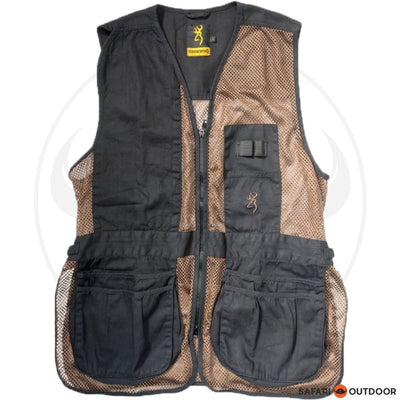 BROWNING HIDALGO RH SHOOTING VEST -BROWN/BLACK