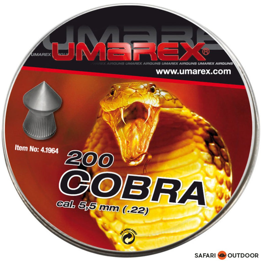 PELLET UMAREX COBRA POINTED 5.5MM 15.7GR (200)