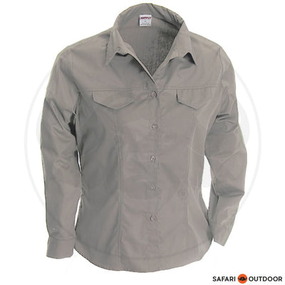 RUGGEDWEAR LDS KIEWIET LONG SLEEVE SHIRT -STONE