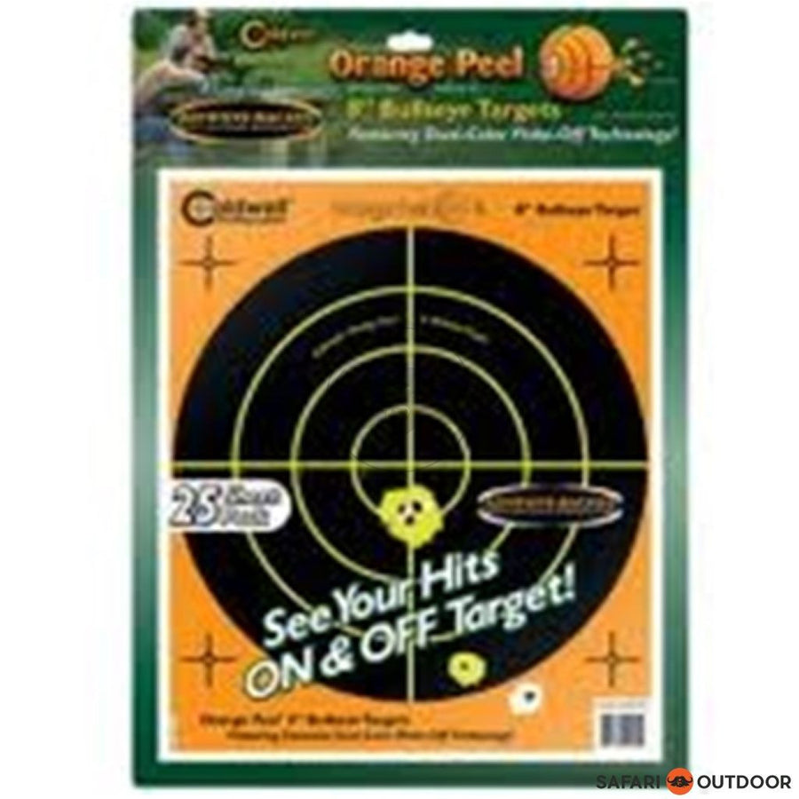 CALDWELL ORANGE PEEL 8 INCH 25 PER PACK - SAFARI OUTDOOR