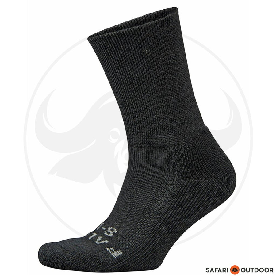 SOCKS FALKE MENS WALKIE HIKING WOOL BLACK