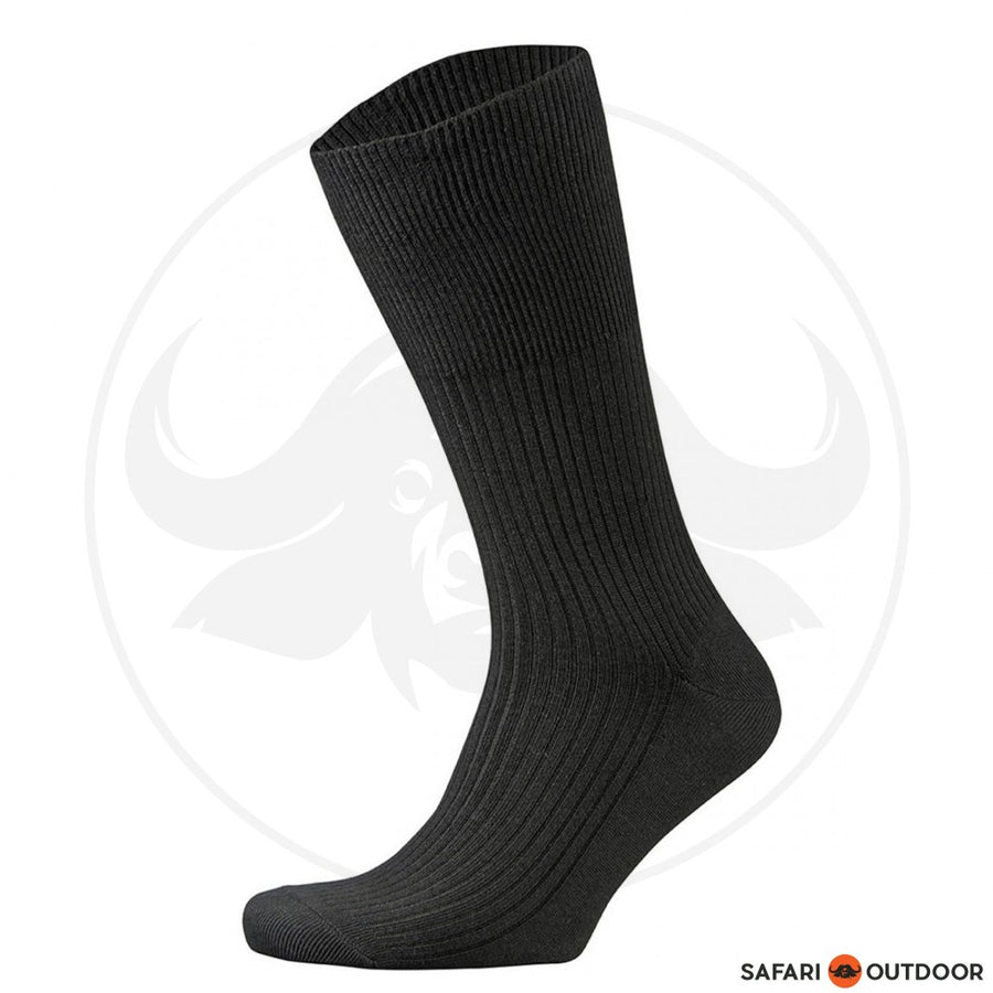 FALKE SOCKS MENS WALKIE HIKING WOOL -BLACK