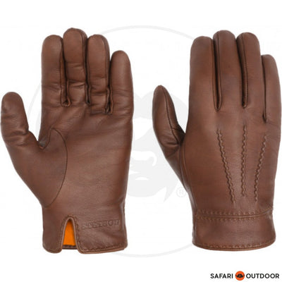 STETSON GLOVES GOAT NAPPA - BROWN