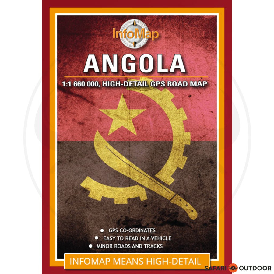 ANGOLA ROAD MAP WITH GPS POINTS 3rd ED (BOOK)