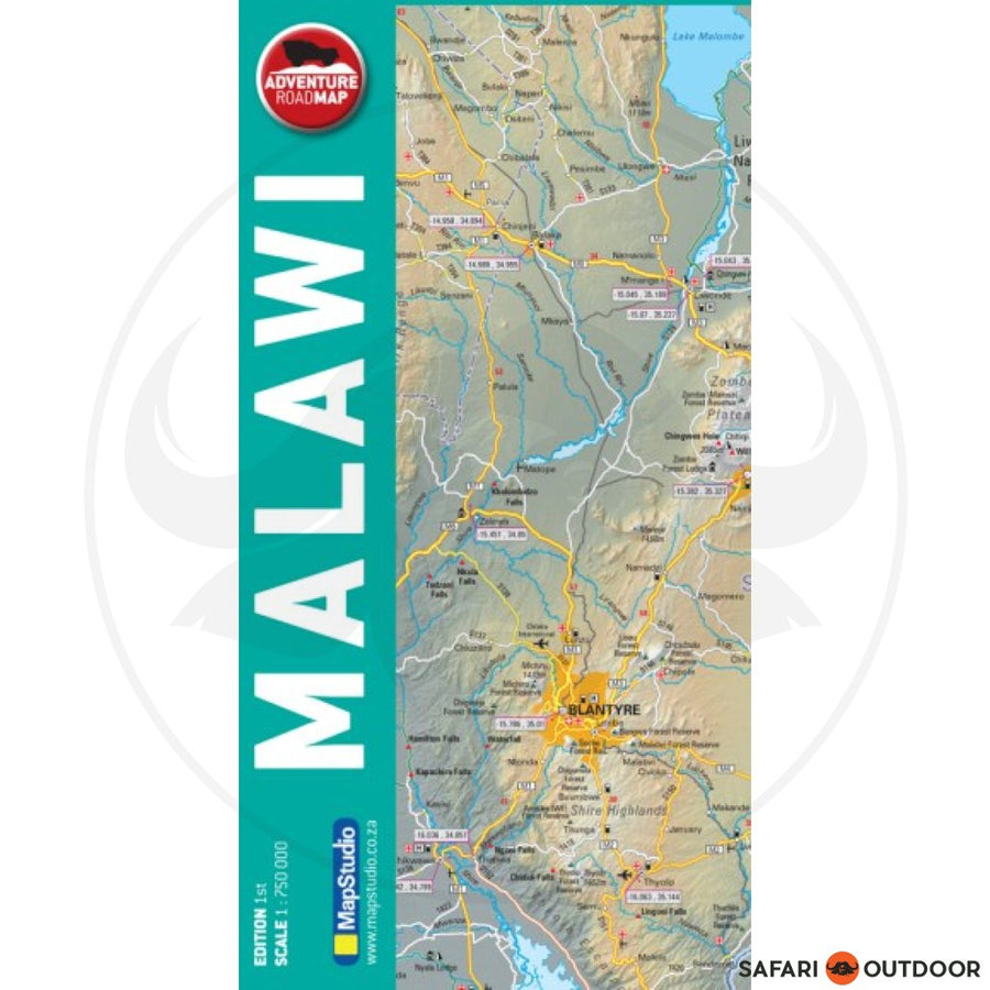 MAPSTUDIO MALAWI ADVENTURE ROAD - 1st ED MAP (BOOK)