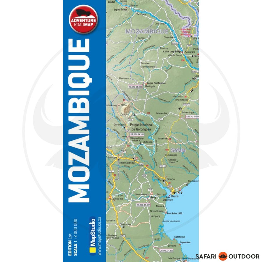 MOZAMBIQUE ADVENTURE ROAD MAP (BOOK)