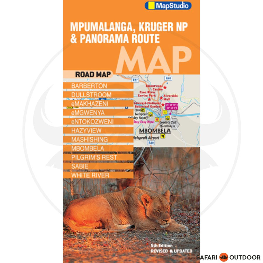 MPUMALANGA KRUGER NATIONAL PARK AND PANORAMA ROUTE MAP - MAPSTUDIO (BOOK)
