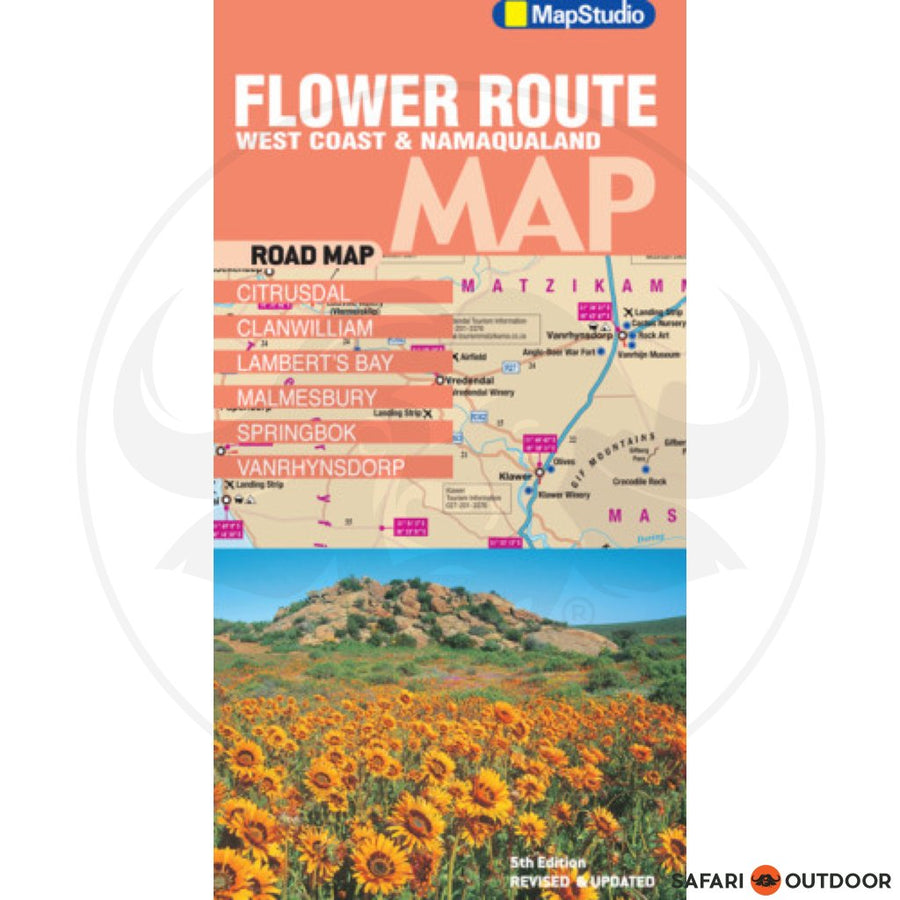 FLOWER ROUTE ROAD MAP – MAPSTUDIO (BOOK)