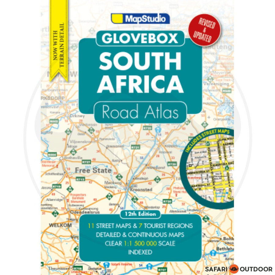 MAPSTUDIO ROAD ATLAS SOUTH AFRICA GLOVEBOX - 12th ED (BOOK)