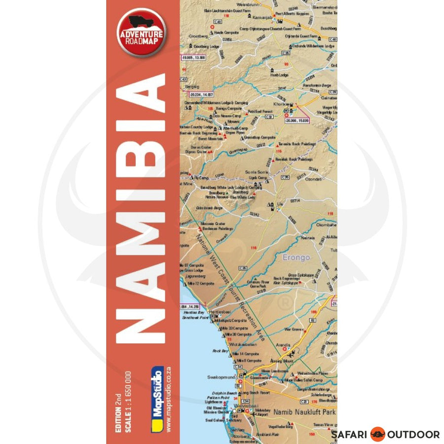 MAPSTUDIO NAMIBIA ADVENTURE MAP 2ND (BOOK)