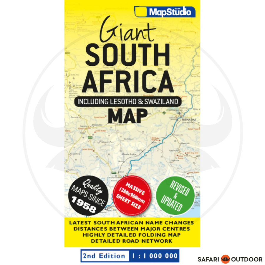 MAPSTUDIO SOUTH AFRICA GIANT ROAD MAP - 2ND ED (BOOK)