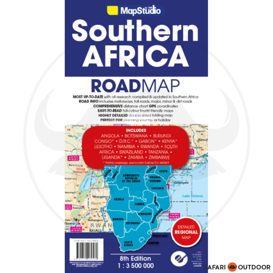 MAP SOUTHERN AFRICA WITH GPS POINTS - 8TH EDITION (BOOK)