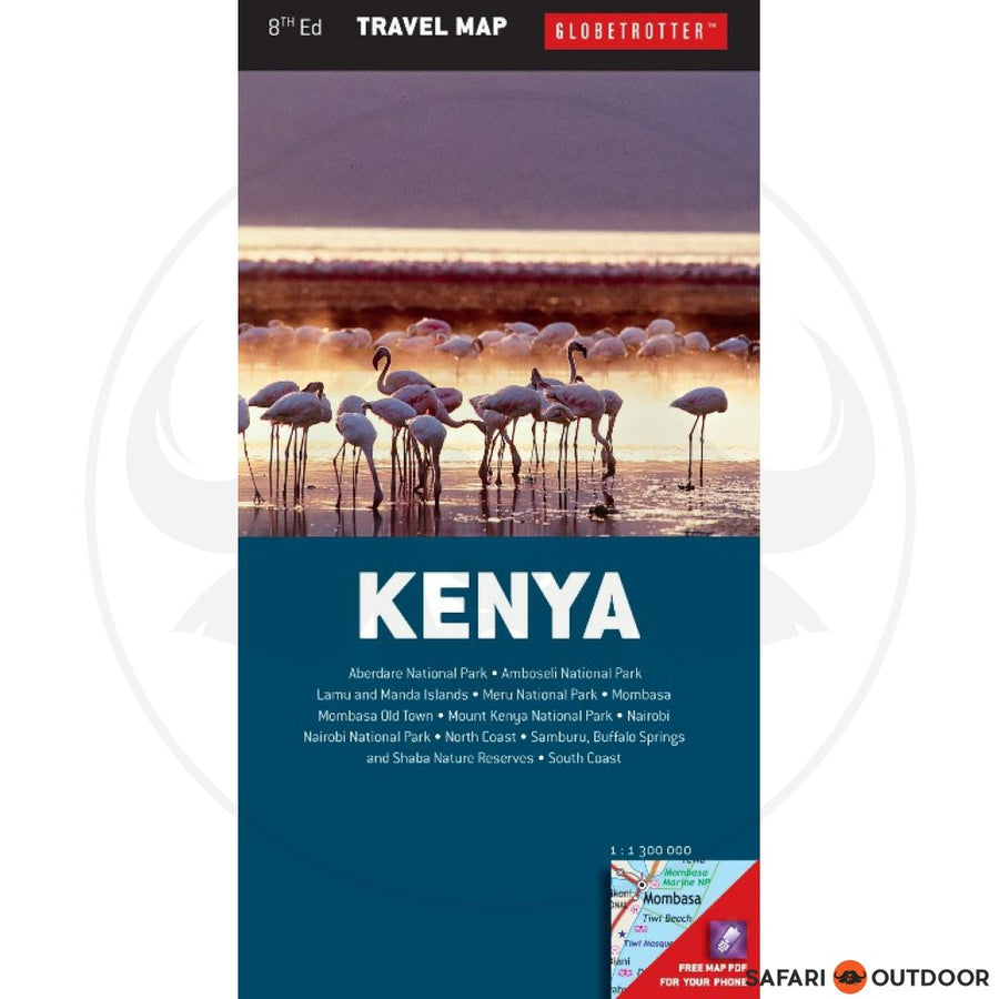 GLOBETROTTER KENYA TRAVEL MAP - 8th ED (BOOK)