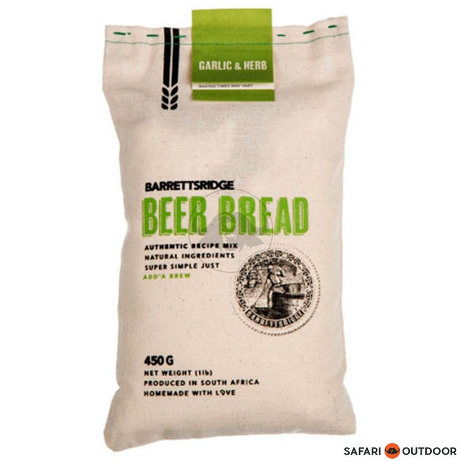 BARRETS RIDGE GARLIC AND HERB BEER BREAD 450G - SAFARI OUTDOOR