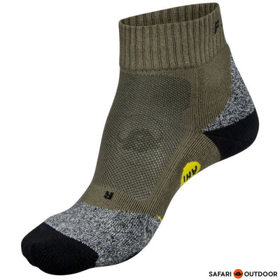 SOCKS FALKE AH1 QUARTER GREEN PEPPER OLIVE - SAFARI OUTDOOR