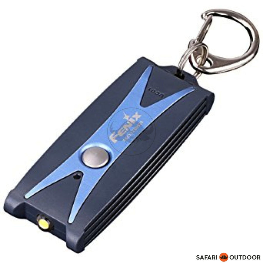 FENIX KEY RING LED F/LIGHT MATT BLUE 45 LUMEN USB - SAFARI OUTDOOR
