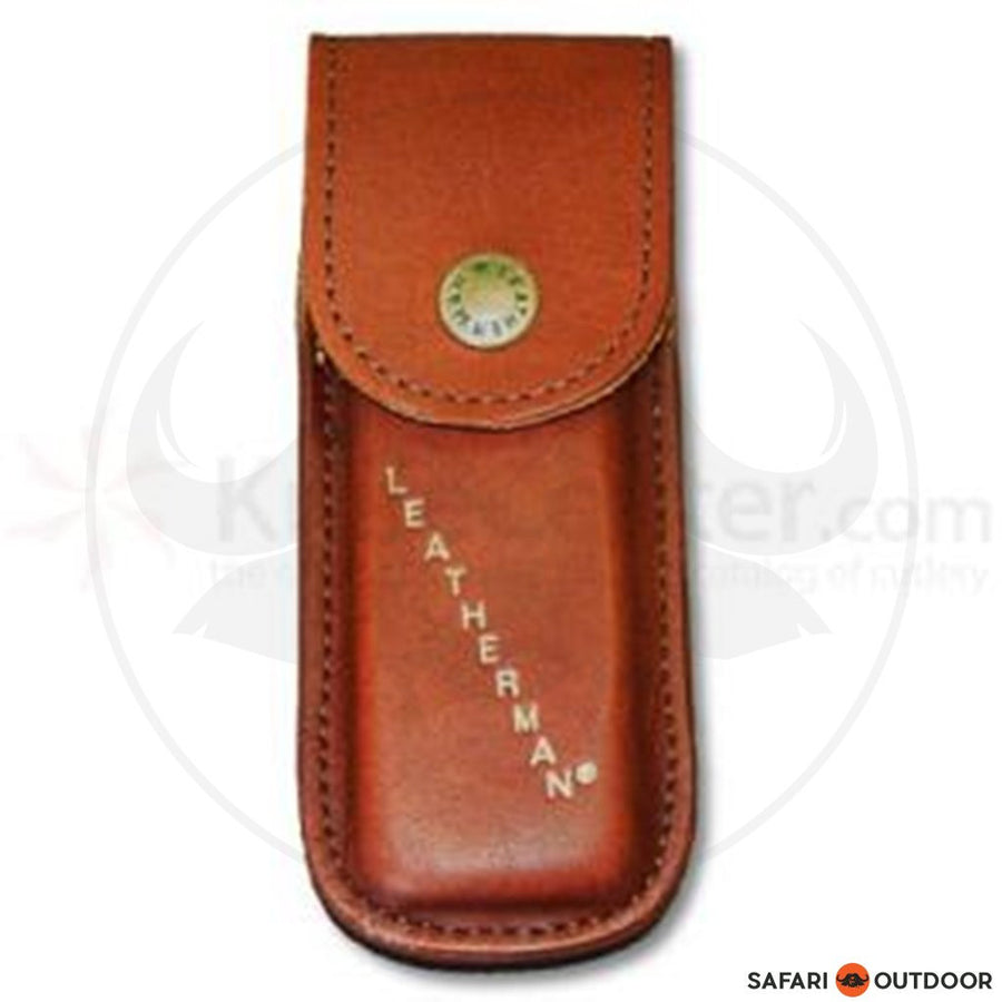 "LEATHERMAN POUCH 4"" LEATHER BROWN - SAFARI OUTDOOR"