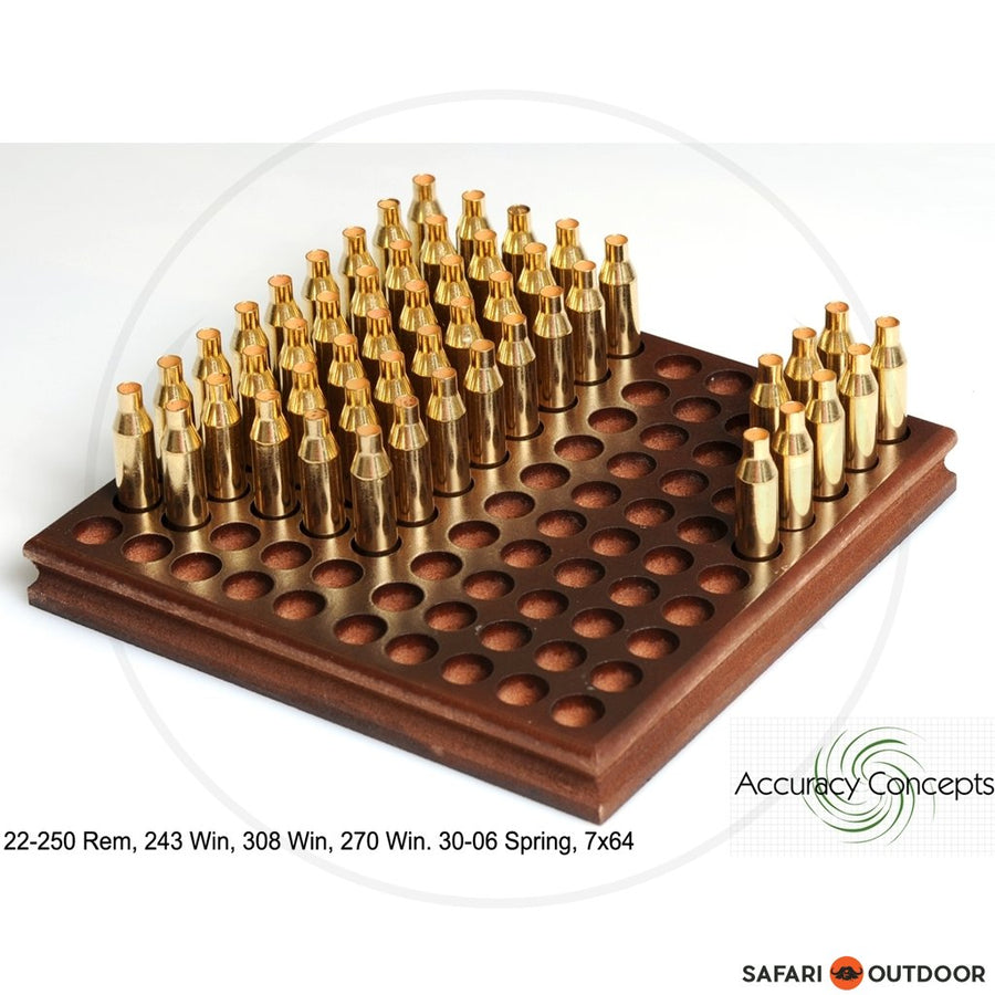 ACCURACY CONCEPTS RELOADING TRAY SMALL RIFLE 100 (222;223;6X45)