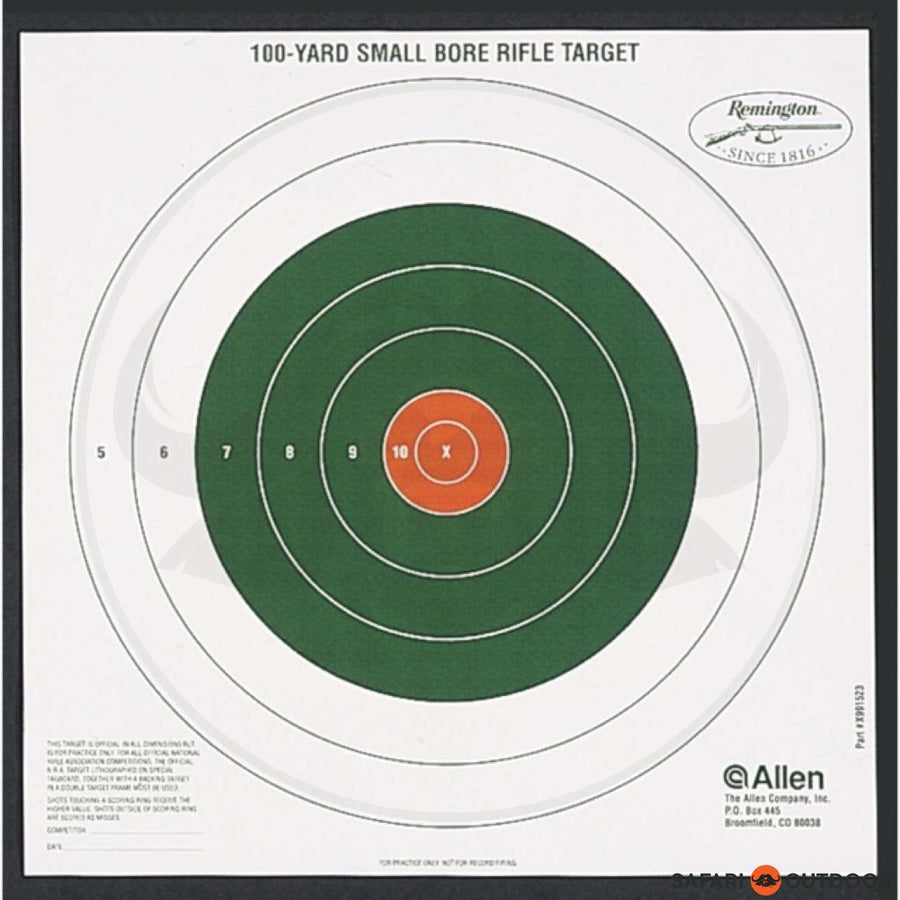 ALLEN SMALL BORE RIFLE 100 YARD TARGET