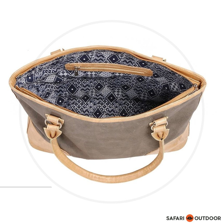 ANTELO HANDBAG GEORGIA LADIES -GREY/SAND