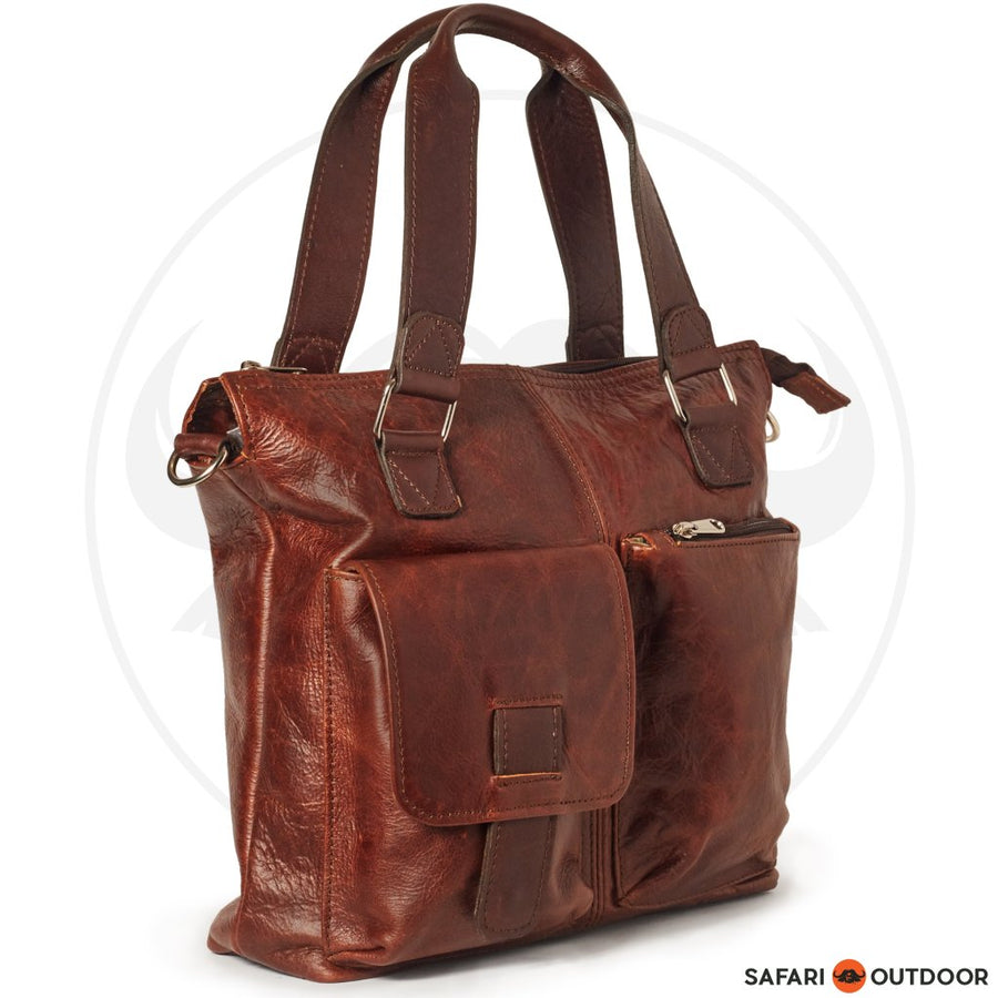 ANTELLO UNISEX PAXTON BAG -NICOTINE BROWN