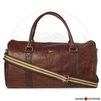 ANTELLO WILLIAM UNISEX DUFFLE BAG -LEATHER BROWN